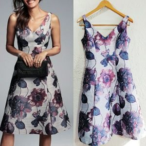 Adrianna Papell Floral Jacquard Fit & Flare Party